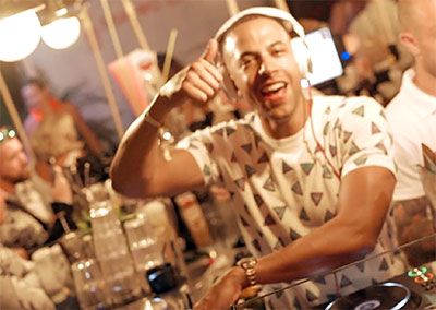 Marvin Humes at Mahiki Launch Party