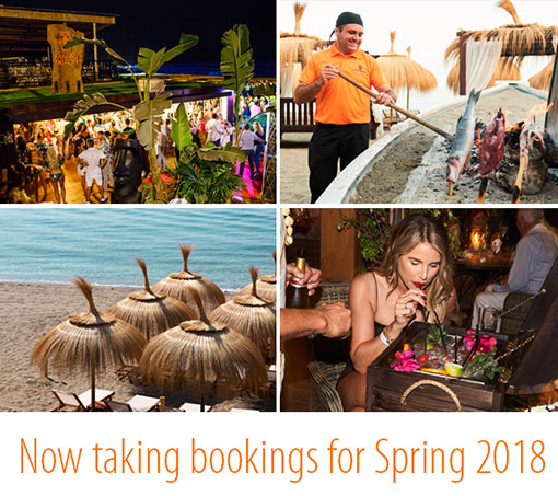 Mahiki Beach now taking bookings for 2018