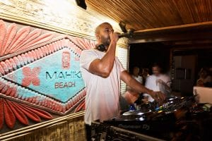 Marvin Humes delivers a stellar performance at packed out Mahiki Beach in Marbella