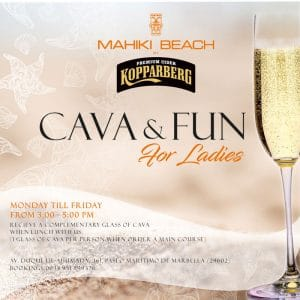 Cava & Fun in Marbella at Mahiki Beach