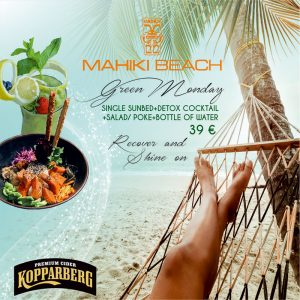 Green Monday at Mahiki Beach Marbella