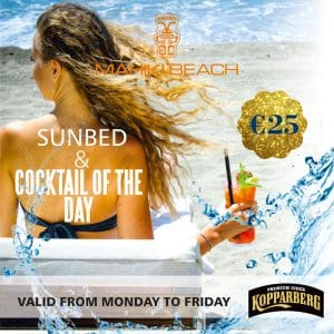 Sunbed and cocktail deals at Marbella at Mahiki Beach